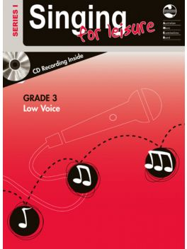 Singing for Leisure Low Voice Grade 3 Series 1 Grade Book
