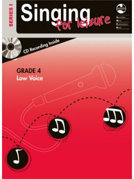 Singing for Leisure Low Voice Grade 4 Series 1 Grade Book