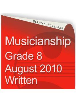 Musicianship August 2010 Grade 8 Written