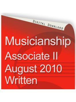 Musicianship August 2010 Associate Section II Written