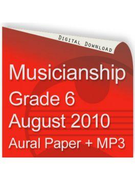 Musicianship August 2010 Grade 6 Aural