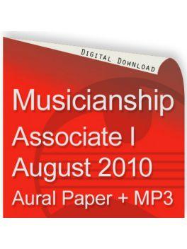 Musicianship August 2010 Associate Section I Aural