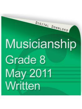 Musicianship May 2011 Grade 8 Written