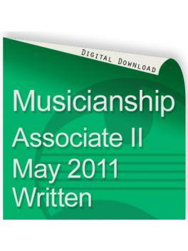 Musicianship May 2011 Associate Section II Written