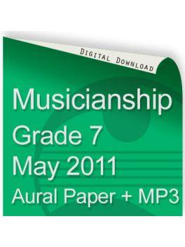 Musicianship May 2011 Grade 7 Aural