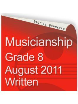 Musicianship August 2011 Grade 8 Written