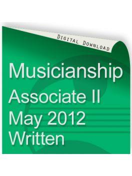 Musicianship May 2012 Associate Section II Written