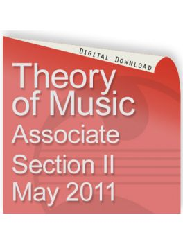 Theory of Music May 2011 Associate Section 2