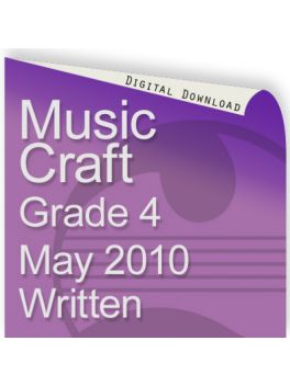 Music Craft May 2010 Grade 4 Written