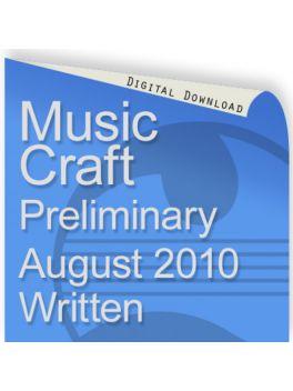 Music Craft August 2010 Preliminary Written