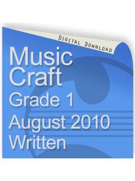 Music Craft August 2010 Grade 1 Written