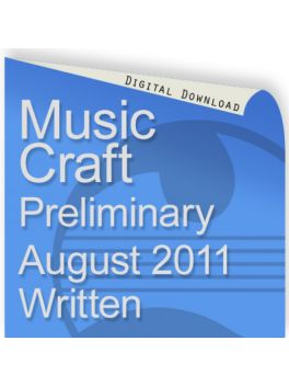 Music Craft August 2011 Preliminary Written