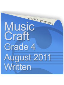 Music Craft August 2011 Grade 4 Written