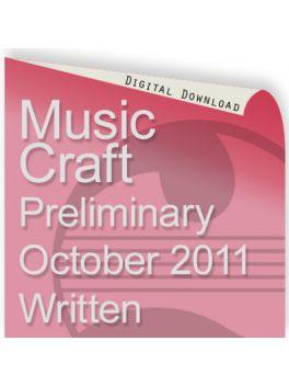 Music Craft October 2011 Preliminary Written