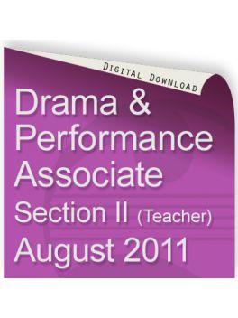 Drama & Performance August 2011 Associate (Teacher)