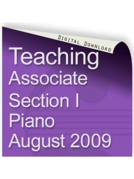 Teacher of Music Associate Section I Piano August 2009