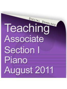 Teacher of Music Associate Section I Piano August 2011
