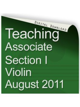 Teacher of Music Associate Section I Violin August 2011
