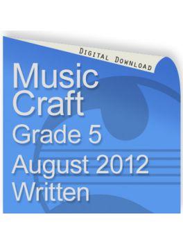 Music Craft August 2012 Grade 5 Written