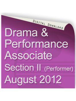 Drama & Performance August 2012 Associate (Performer)