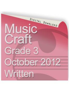 Music Craft October 2012 Grade 3 Written