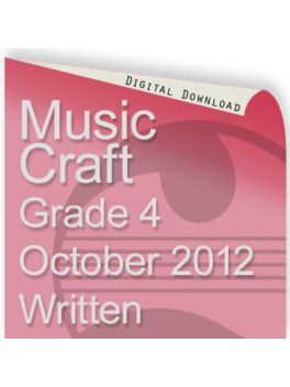 Music Craft October 2012 Grade 4 Written