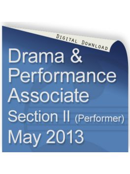 Drama & Performance May 2013 Associate (Performer)