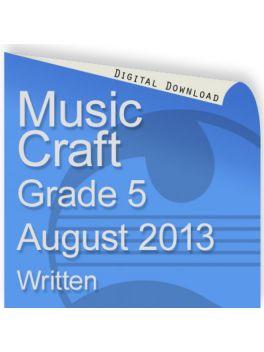 Music Craft August 2013 Grade 5 Written
