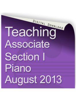 Teacher of Music Associate Section 1 Piano August 2013