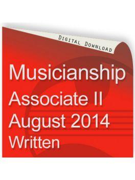 Musicianship August 2014 Associate Section II Written