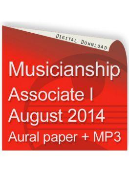 Musicianship August 2014 Associate Section I Aural