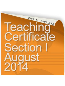 Teacher of Music Certificate Section I 2014
