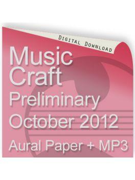 Music Craft October 2012 Preliminary Aural