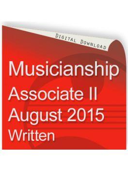 Musicianship August 2015 Associate Section II Written