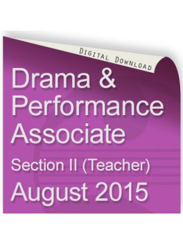Drama and Performance Associate August 2015 (Teacher)