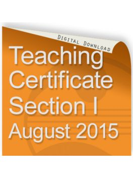 Teacher of Music Certificate Section I August 2015