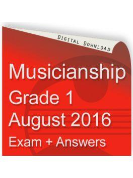 Musicianship August 2016 Grade 1