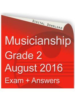 Musicianship August 2016 Grade 2