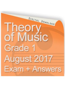 Theory of Music August 2017 Grade 1