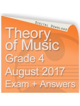 Theory of Music August 2017 Grade 4