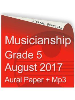 Musicianship August 2017 Grade 5 Aural