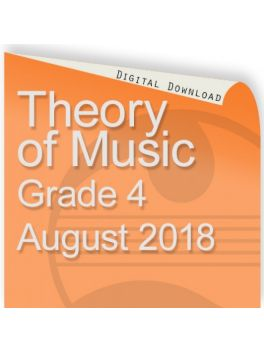 Theory of Music August 2018 Grade 4