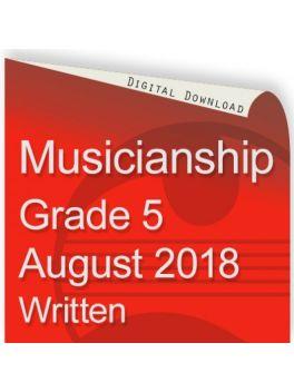Musicianship August 2018 Grade 5 Written