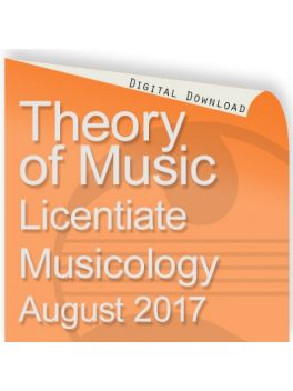 Theory of Music 2017 Licentiate: Musicology