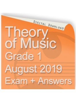Theory of Music August 2019 Grade 1