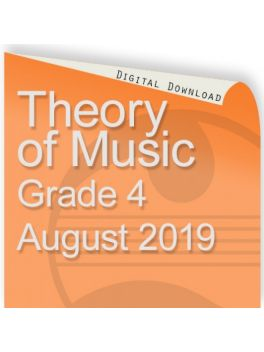 Theory of Music August 2019 Grade 4