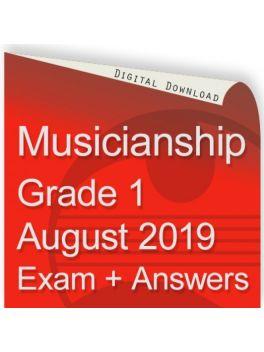 Musicianship August 2019 Grade 1