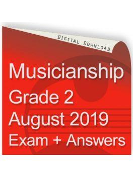 Musicianship August 2019 Grade 2