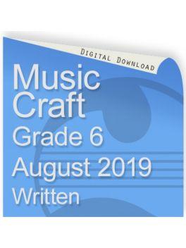 Music Craft August 2019 Grade 6 Written