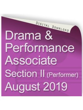 Drama and Performance Associate August 2019 (Performer)